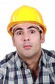 Surprised builder