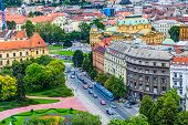 stock photo of house woods  - Panorama of the Zagreb - JPG