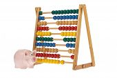 Abacus With Pink Piggy Bank