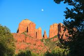 Cathedral Rock Moonrise