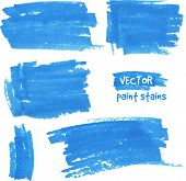 stock photo of dab  - Vector spot of paint drawn by felt pen - JPG