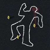 stock photo of accident victim  - Crime scene illustration - JPG