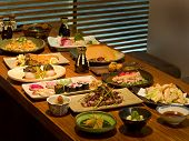 Beautiful Table Of Japanese Food