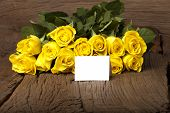 Writable Greeting Card With Yellow Roses