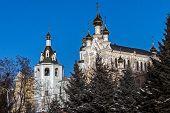 Complex of buildings St. Intercession orthodox Monastery in Kharkiv, Ukraine