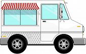 small food bus with awning
