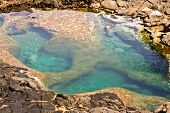 Natural Pool At The Coastside Of Lanzarote In Nature