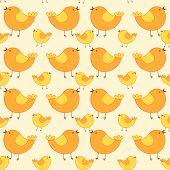Chickens Seamless Pattern