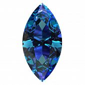 foto of alexandrite  - Gemstone on white background  - JPG