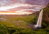 Seljalandsfoss is one of the most beautiful waterfalls on the Iceland. It is located on the South of