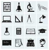 School And Education Icons.