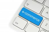 Blauwe e-commerce knop
