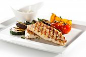 pic of grouper  - Grilled Fish Fillet with BBQ Vegetables - JPG