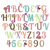 Girly alfabet Vector Set - meer Letters in portefeuille