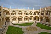 Monastery Jeronimos In Belem, Near Lisbon, Famous Monastery In Portugal