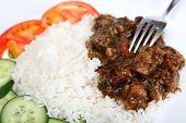 Beef Szechuan With Fork