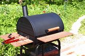 barbecue on green nature background