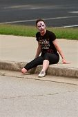 One-legged Female Zombie Awaits Runners In Odd 5K Race