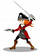 pirate woman vector