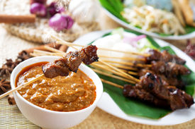 picture of sate  - Satay or sate - JPG