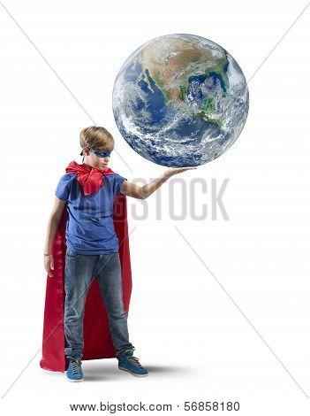 Little Superhero Save The World poster