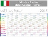 2015 Italian Planner-2 Calendar with Horizontal Months