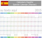 2015 Spanish Planner-2 Calendar with Vertical Months