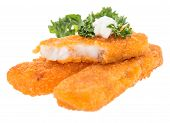 Heap Of Fried Fish With Remoulade
