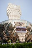 MACAU, CHINA - NOVEMBER 2, 2012: Grand Lisboa Casino - one of the largest and most popular casino. M