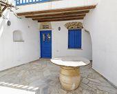Mediterranean house facade, Tinos island, Greece