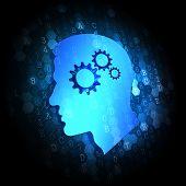 Psychological Concept on Digital Background.