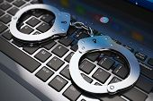 picture of handcuffs  - Cyber crime - JPG