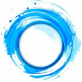 image of drop oil  - Abstract painting design element - JPG