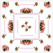 pink roses as pattern