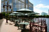 Outdoor seating available for lunch