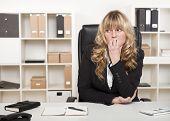 Pensive Worried Businesswoman