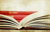 Open book - vintage photo