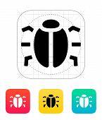 Spy bug icon.