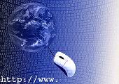 Ilustración 3D de Internet