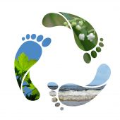 Footprint Recycle Zeichen