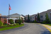 image of manor  - Nursing home retirement communities and services entrance - JPG