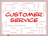 pic of rep  - Customer Service Word Cloud Concept on a Whiteboard with great terms such as call center help staff rep and more - JPG