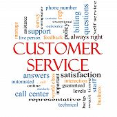 stock photo of rep  - Customer Service Word Cloud Concept with great terms such as call center help staff rep and more - JPG