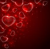 Bubbles hearts