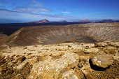 Vulcanic Timanfaya  Rock Stone And Summer In Los Volcanes Lanzarote Spain