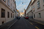 ZAGREB, CROATIA - JANUARY 12, 2014: Cirilometodska street that leads to famous  St Mark�?�¢??s Ch