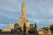 Ruin Of St Andrews Cathedral In St Andrews Scotland