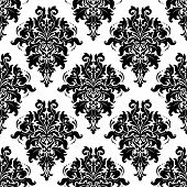 Intricate Foliate Arabesque Seamless Pattern