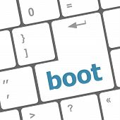 Boot Button On Computer Pc Keyboard Key