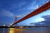 Lisbon Bridge - April 25Th, Old Salazar Bridge, Portugal